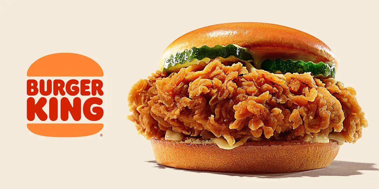 汉堡王的新鸡肉三明治。 /汉堡王
