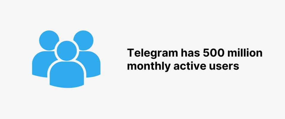Telegram 5亿月活用户