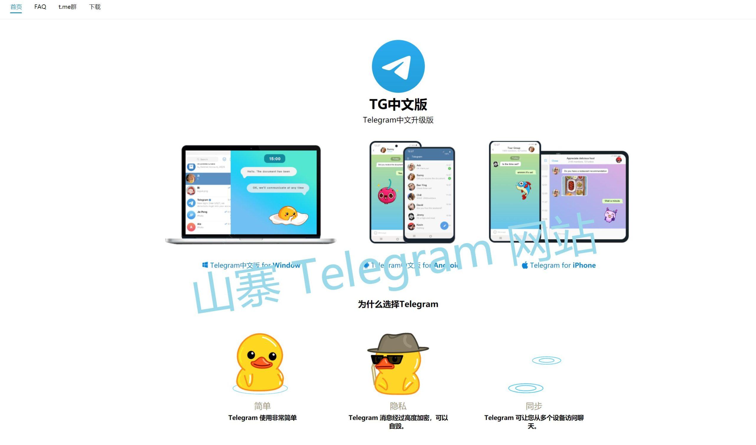 Telegram 山寨中文网