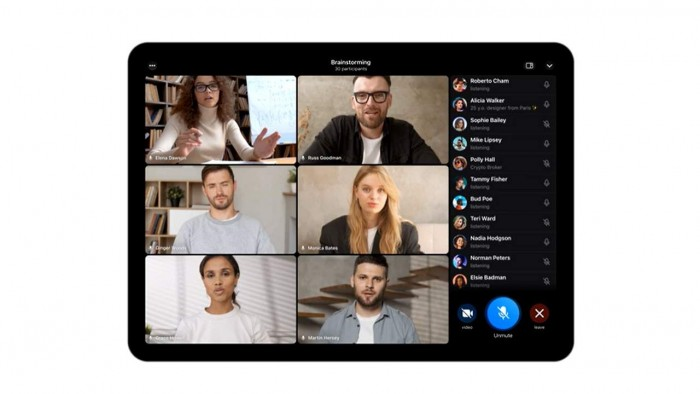 Telegram 群组视频通话